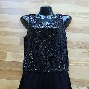 H&M Black Sequined Jumpsuit